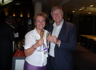 Gina Lazenby & Mike Harris at the launch of Federation 100