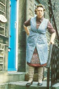 Notorious battleaxe, Norah Batty, played by 80 year old actress Kathy Staff who just died