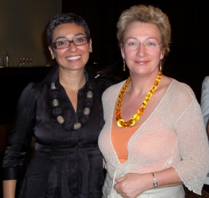 Gina with Zainab Salbi