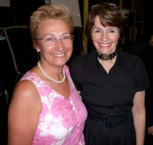 Gina with Lynne Twist at the Pachamama Alliance event in Sydney