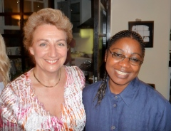 Back in 2009, four years ago: Gina welcomes Madelein Mkunu to London and hosts an event for the LWA Founder