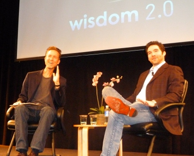 Soren Gordhamer in conversation with LinkedIn CEO Jeff Weiner during Wisdom Week in San Francisco